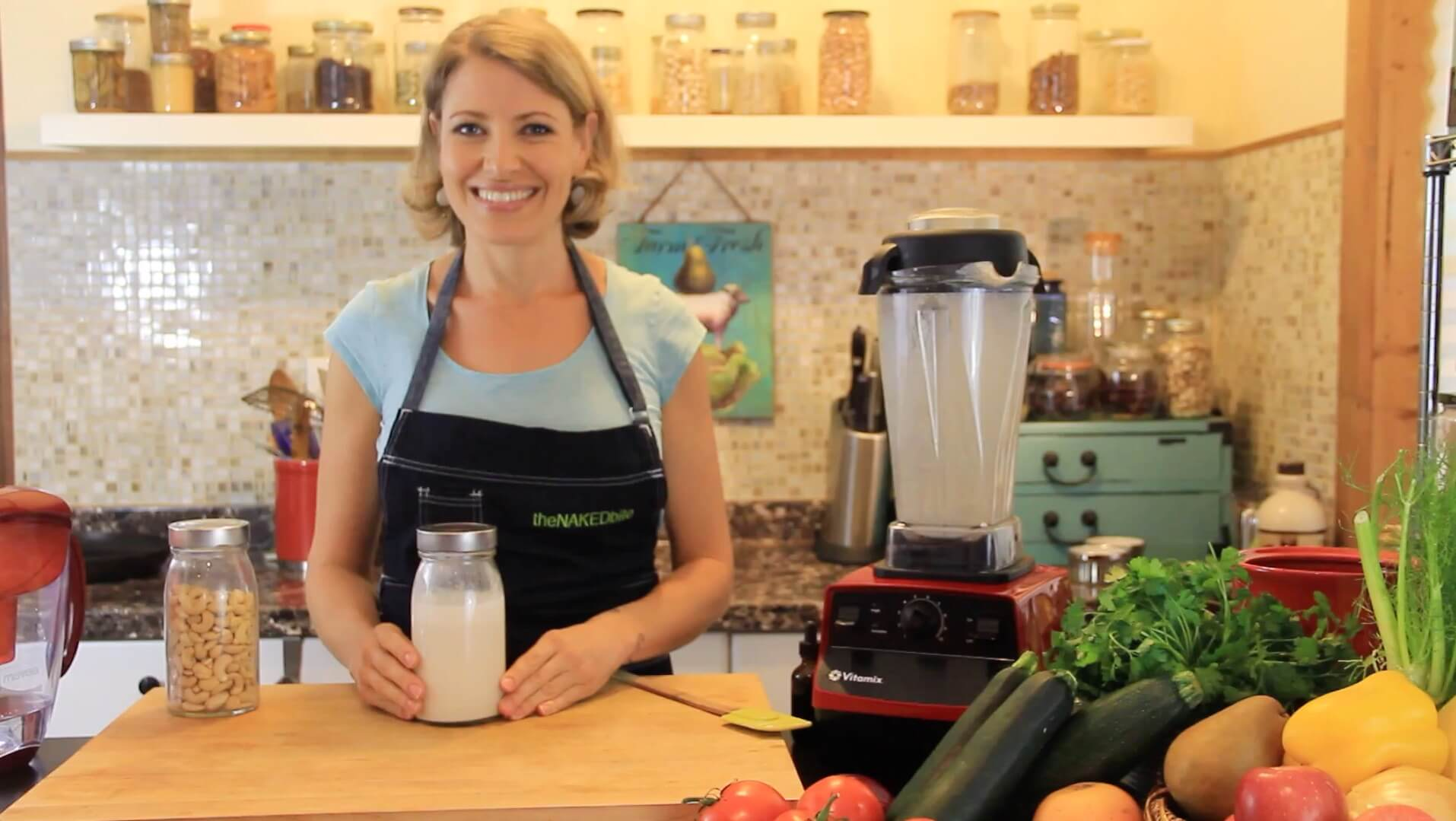 Chef Amber Antonelli with her Vitamix
