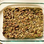 Warm GF herb avocado pumpkin seed quick bread anyone? Testing…