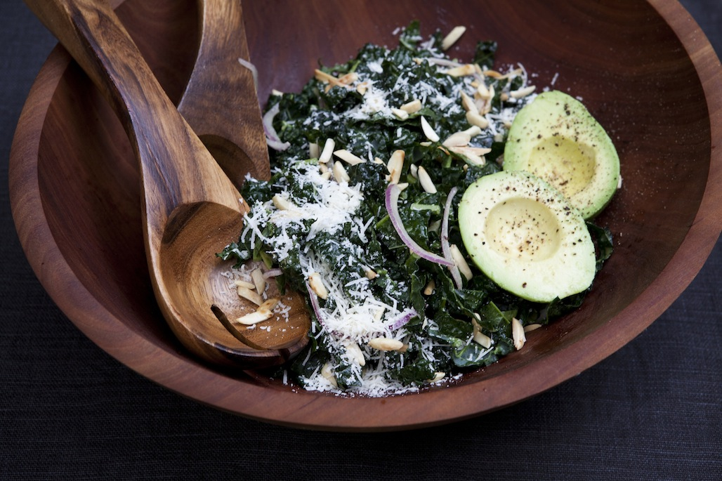 Kale Salad with Lemon and Toasted Almonds
