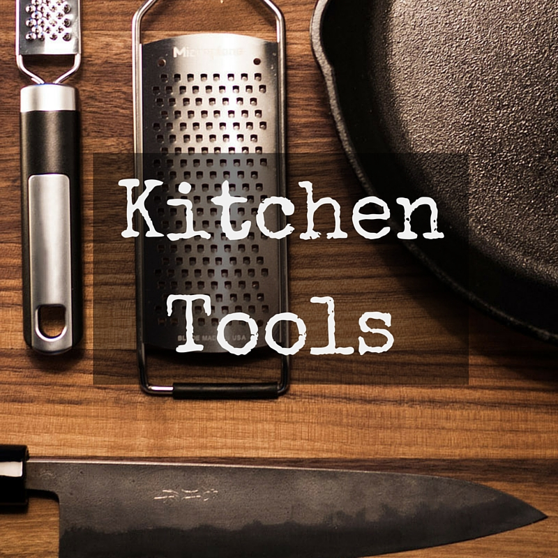 Knife, Cast Iron Skillet, Measuring spoons