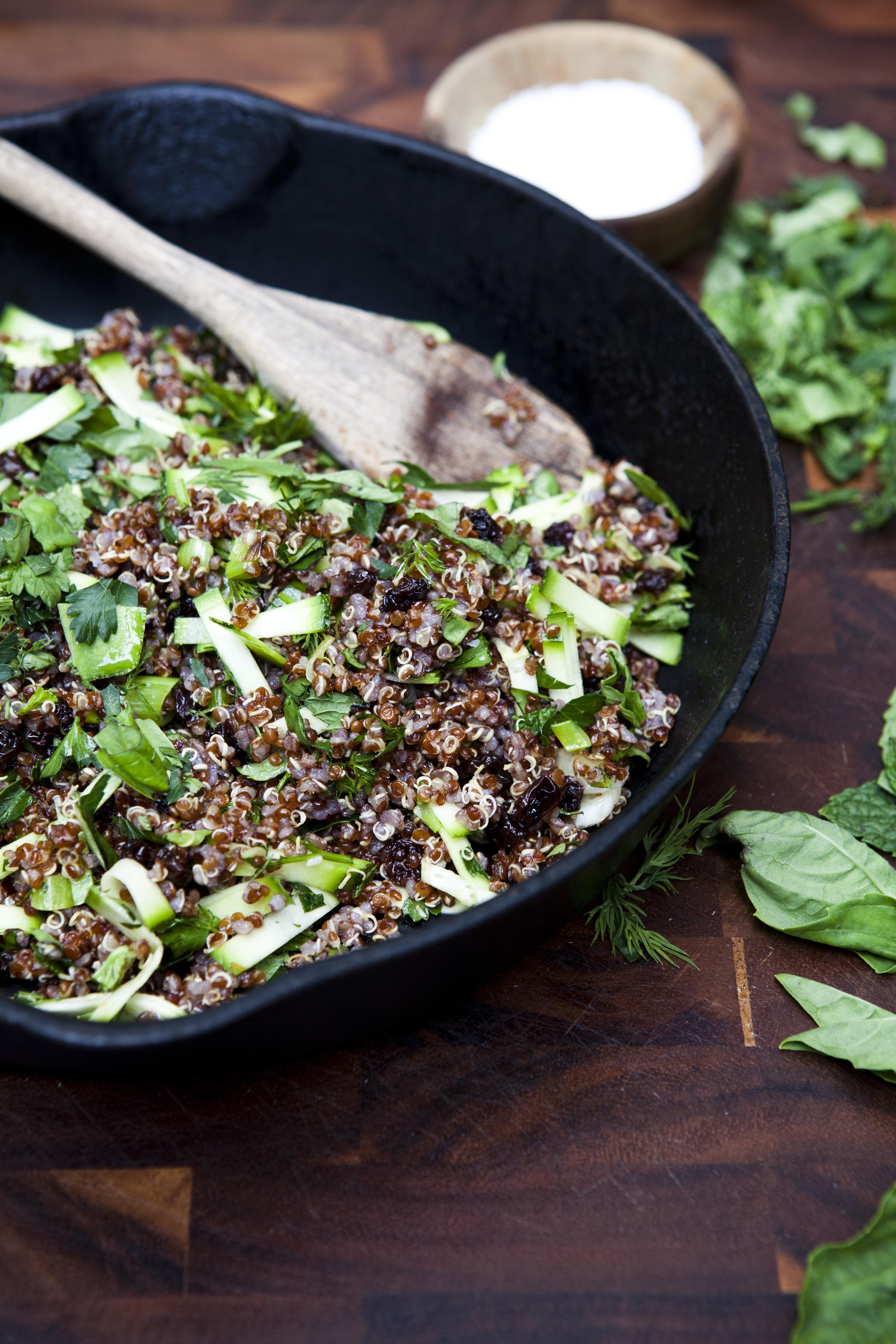 Warm Quinoa & Zucchini Salad | The Naked Bite