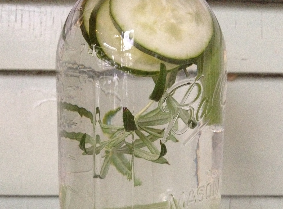 Roasemary cucumber water