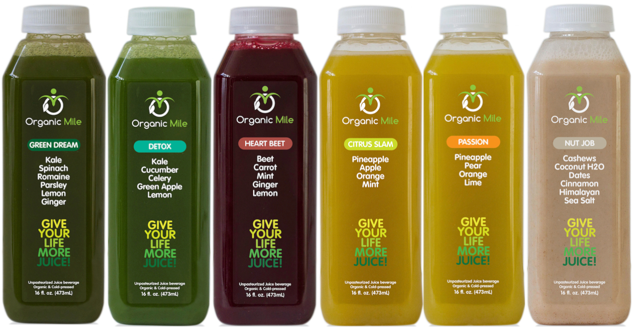Giveaway Organic Mile Juice Cleanse The Naked Bite By