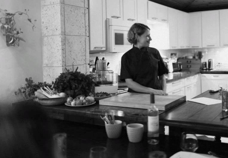 Amber Antonelli in her kitchen