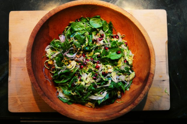 Brussels Sprout Salad with Brown Butter Hazelnut Vinaigrette