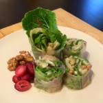 Pear & Fennel Salad Rolls with Toasted Walnuts
