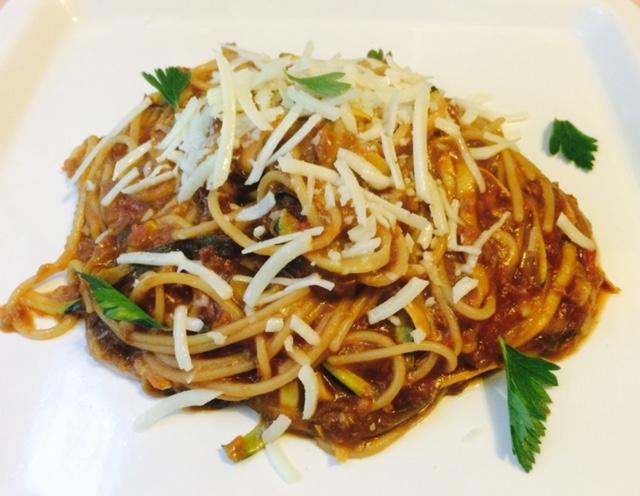 Eggplant Zucchini Pasta