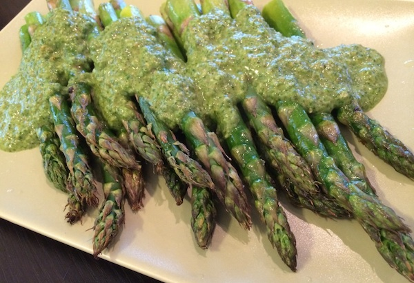 Asparagus with Pesto